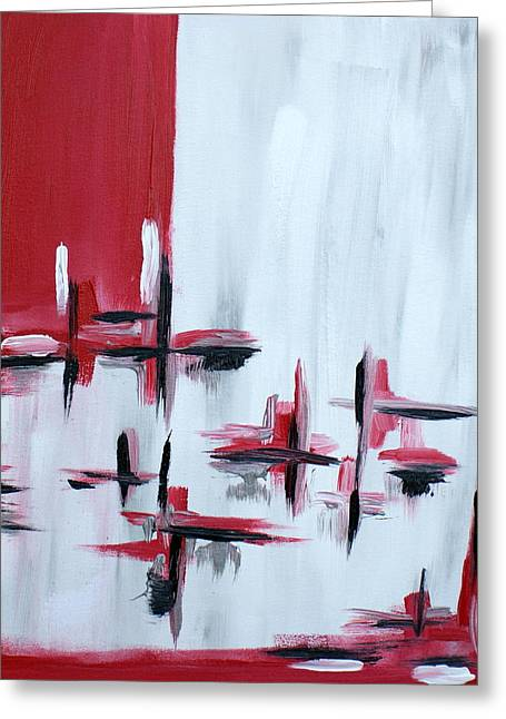 Abstract 27 Greeting Card by Sandra Conceicao