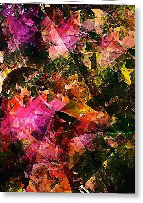Abstract 270 Greeting Card by Pamela Cooper