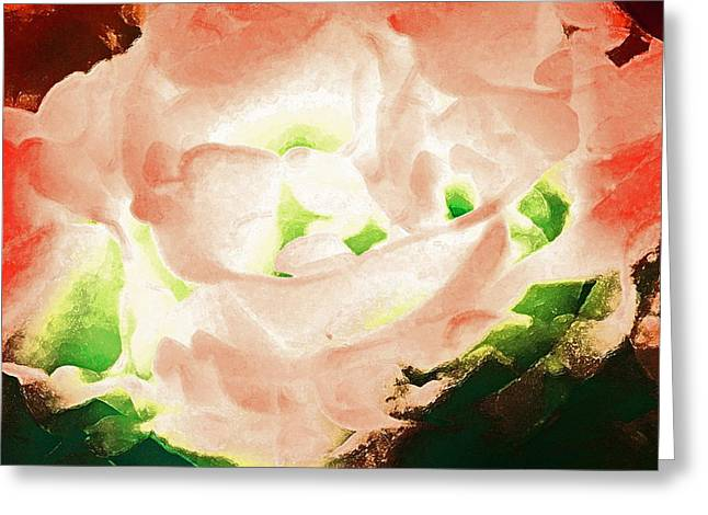 Abstract 278 Greeting Card by Pamela Cooper