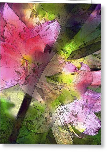 Abstract 280 Greeting Card by Pamela Cooper