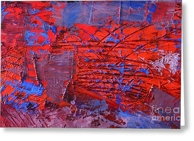 Abstract 423 Greeting Card by Ana Maria Edulescu
