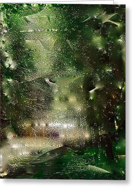 Abstract 58 Greeting Card by Pamela Cooper