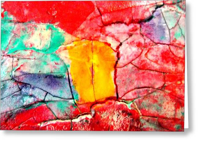 Abstract Accent 2 Greeting Card by Carolyn Repka