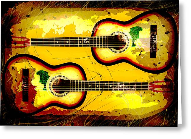 Abstract Acoustic Greeting Card by David G Paul