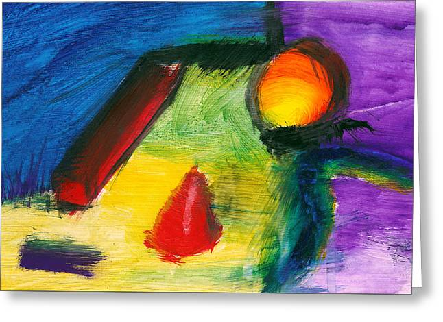 Abstract - Acrylic - Primitives Greeting Card by Mike Savad