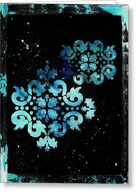 Abstract Art Original Decorative Painting Mysterious By Madart Greeting Card by Megan Duncanson