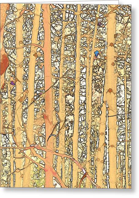 Abstract Aspens Greeting Card