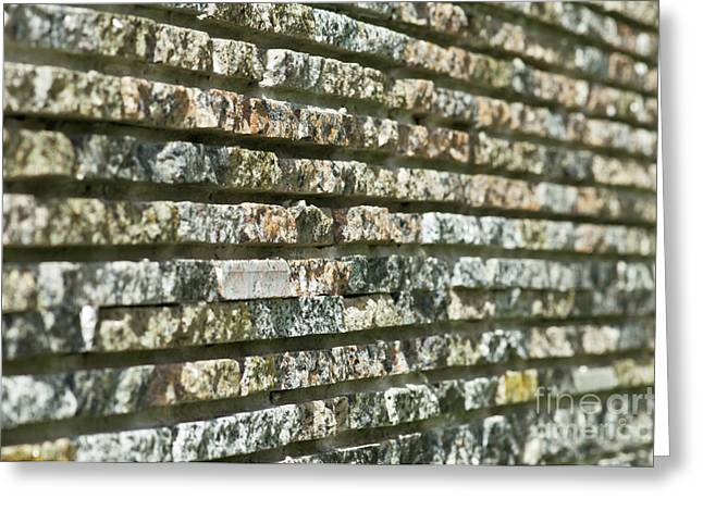 Abstract Background Of Decorative Stone Greeting Card by Valerii Kotulskyi