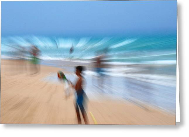 Abstract Beach Greeting Card by Perry Van Munster