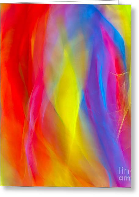 Abstract Colorful Background  Greeting Card by Anna Om