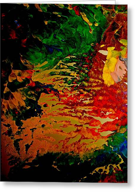 Abstract Colors Greeting Card by Gloria Warren