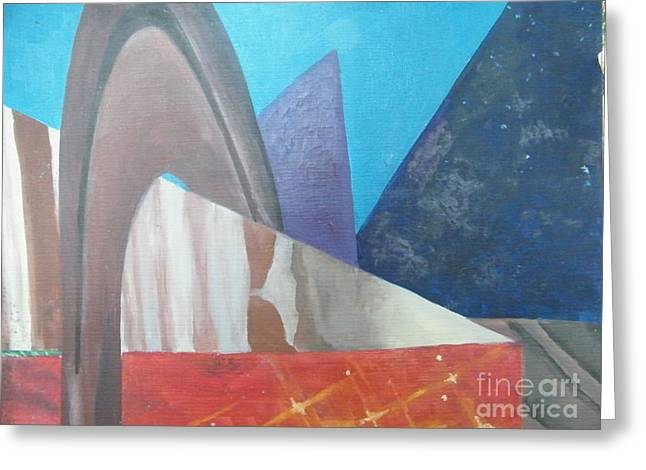 Abstract Greeting Card by Delores Swanson