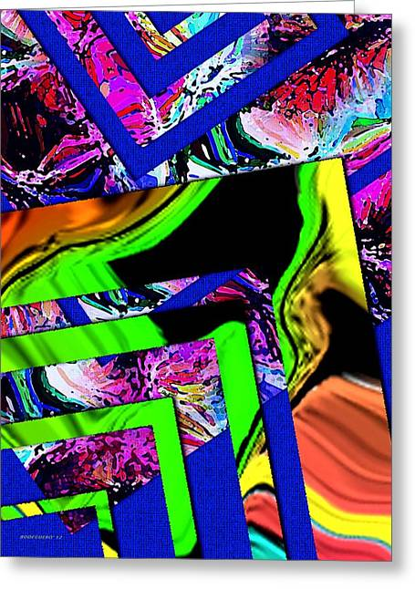 Abstract Design Greeting Card by Mario Perez