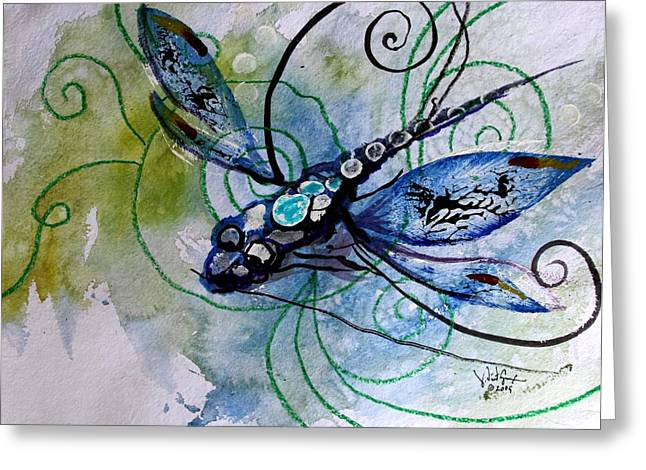 Abstract Dragonfly 10 Greeting Card