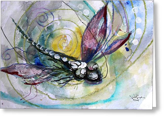 Abstract Dragonfly 11 Greeting Card by J Vincent Scarpace
