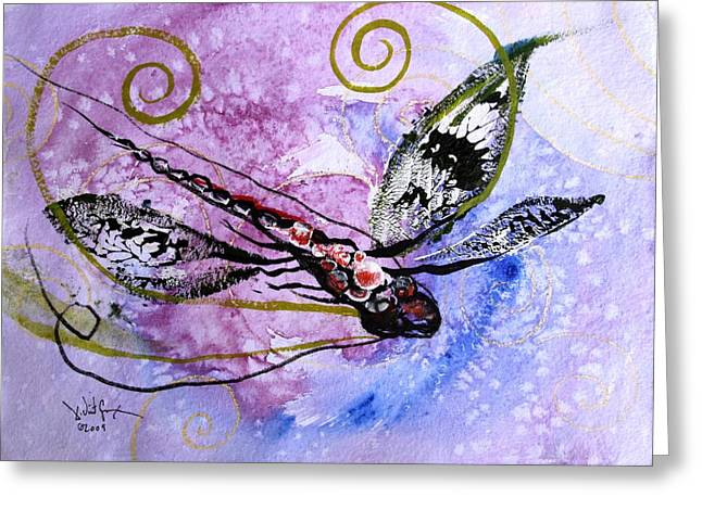 Abstract Dragonfly 6 Greeting Card by J Vincent Scarpace
