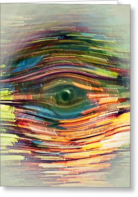 Abstract Eye Greeting Card