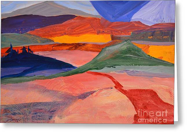Abstract Fields Greeting Card