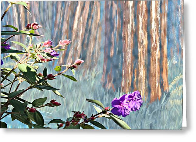 Greeting Card featuring the photograph Abstract Floral by Jo Sheehan