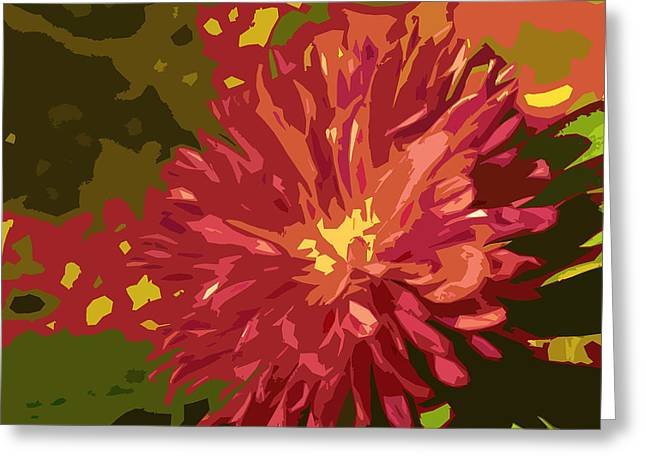 Abstract Flower 10 Greeting Card by Sumit Mehndiratta