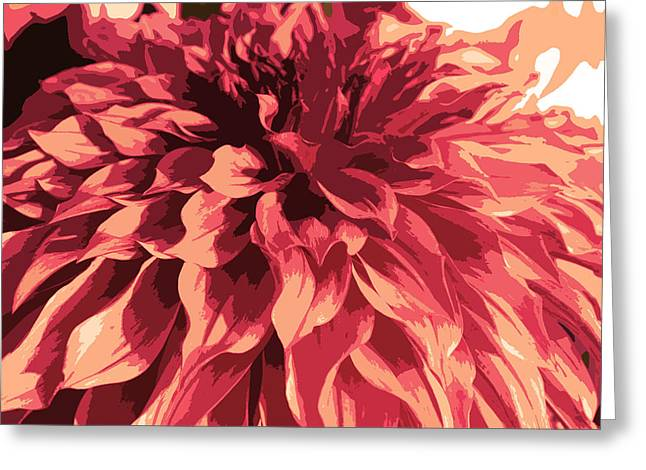 Abstract Flower 13 Greeting Card by Sumit Mehndiratta