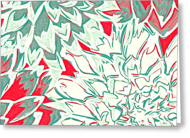 Abstract Flower 16 Greeting Card by Sumit Mehndiratta