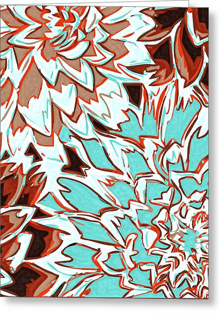 Abstract Flower 17 Greeting Card by Sumit Mehndiratta