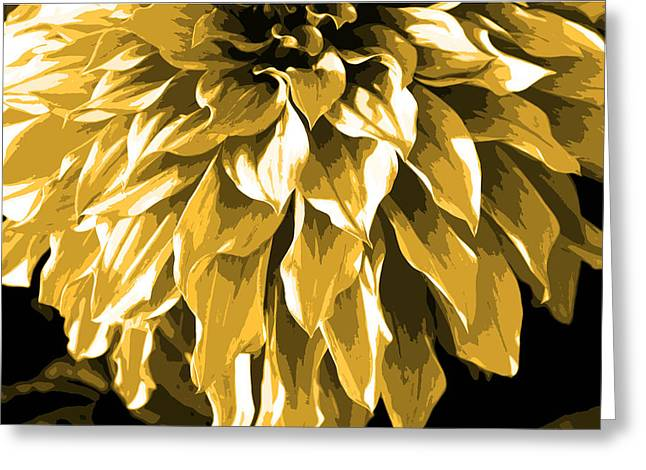 Abstract Flower 4 Greeting Card by Sumit Mehndiratta