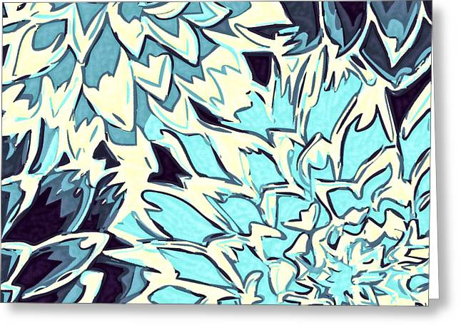 Abstract Flowers 11 Greeting Card by Sumit Mehndiratta