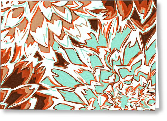 Abstract Flowers 12 Greeting Card by Sumit Mehndiratta