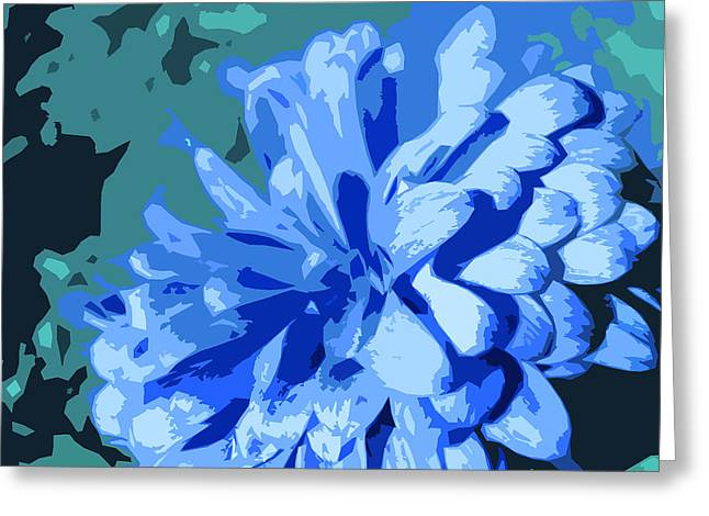 Abstract Flowers 2 Greeting Card by Sumit Mehndiratta
