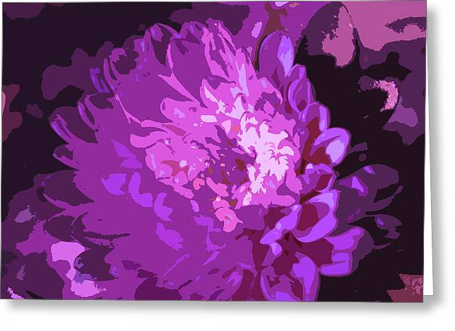 Abstract Flowers 3 Greeting Card by Sumit Mehndiratta