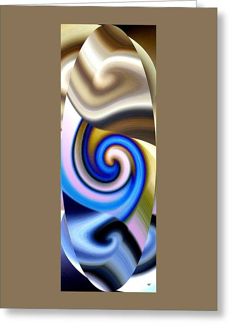 Abstract Fusion 114 Greeting Card by Will Borden
