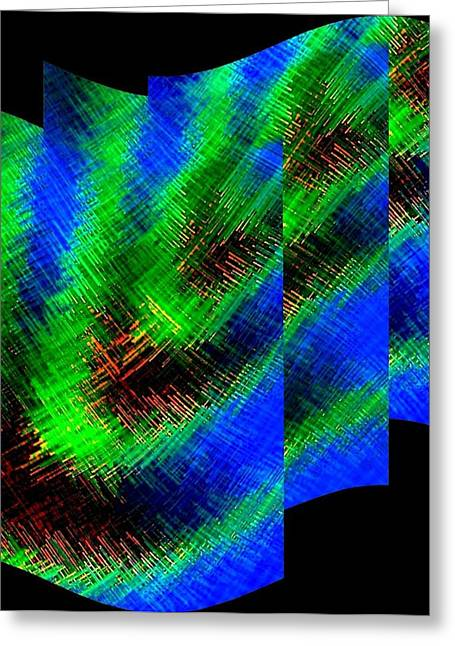 Abstract Fusion 130 Greeting Card by Will Borden