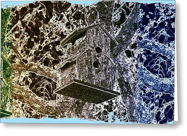 Abstract Fusion 160 Greeting Card by Will Borden