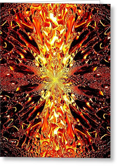 Abstract Fusion 73 Greeting Card by Will Borden