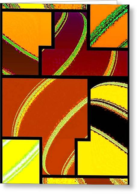 Abstract Fusion 92 Greeting Card by Will Borden