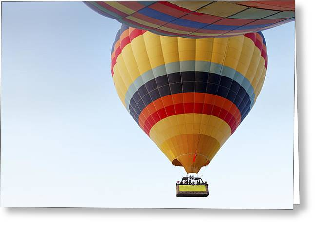 Abstract Hot Air Balloons Greeting Card by Kantilal Patel