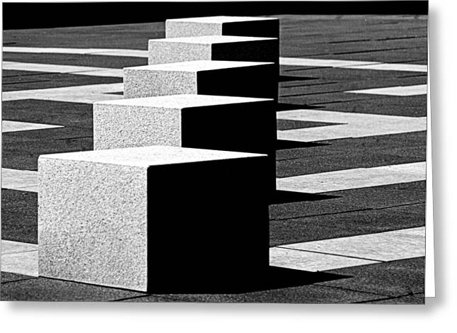 Abstract In Black And White Greeting Card by Tam Graff