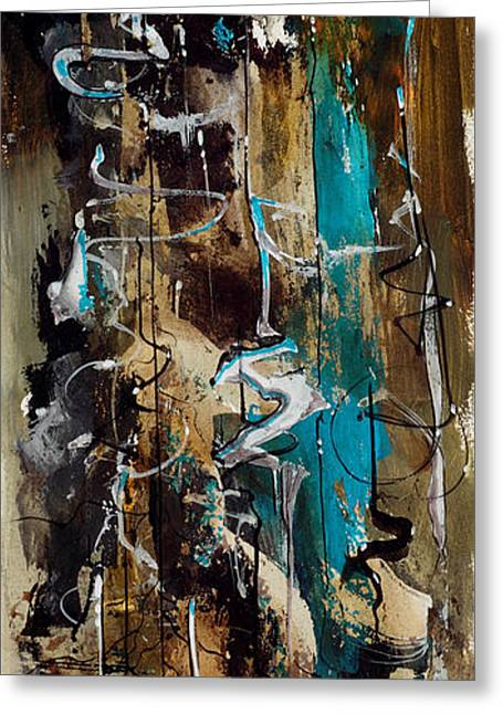 Abstract In Blue And Brown Greeting Card