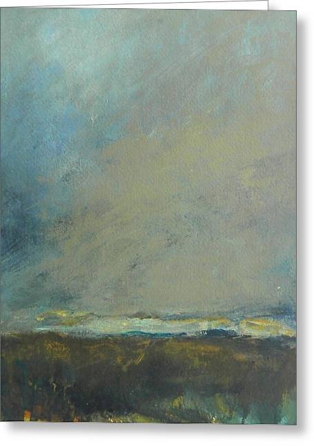 Abstract Landscape - Horizon Greeting Card