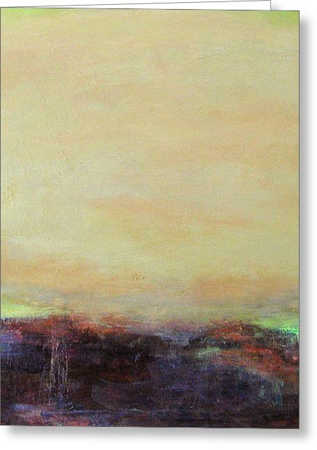 Abstract Landscape - Rose Hills Greeting Card