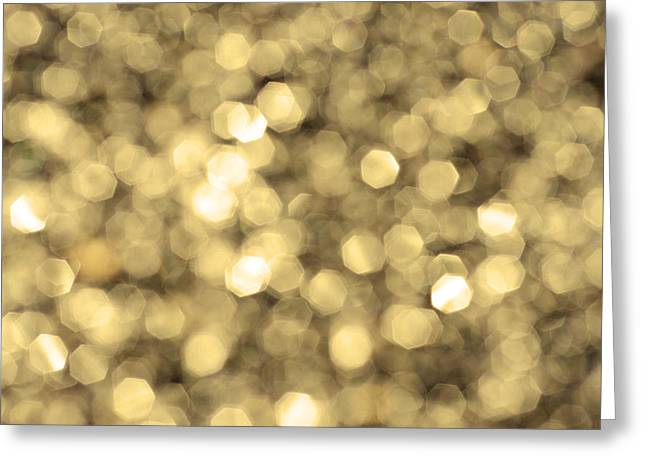 Abstract Lights Golden Greeting Card