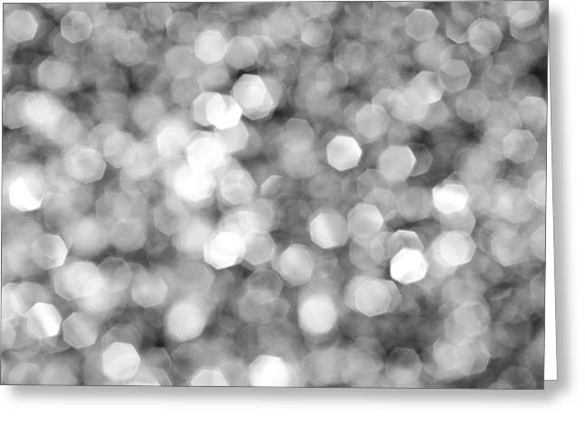 Abstract Lights Monochrome Greeting Card