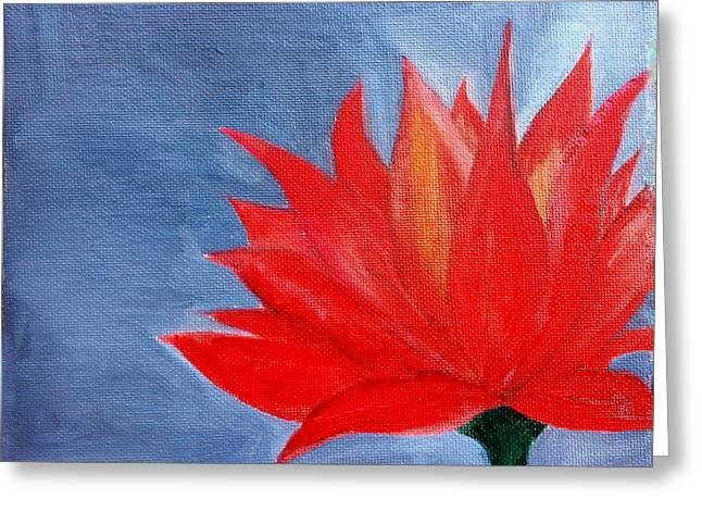 Abstract Lotus Greeting Card by Prachi  Shah