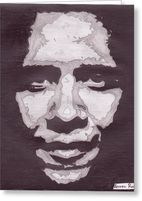 Abstract Obama Greeting Card by Angel Roque