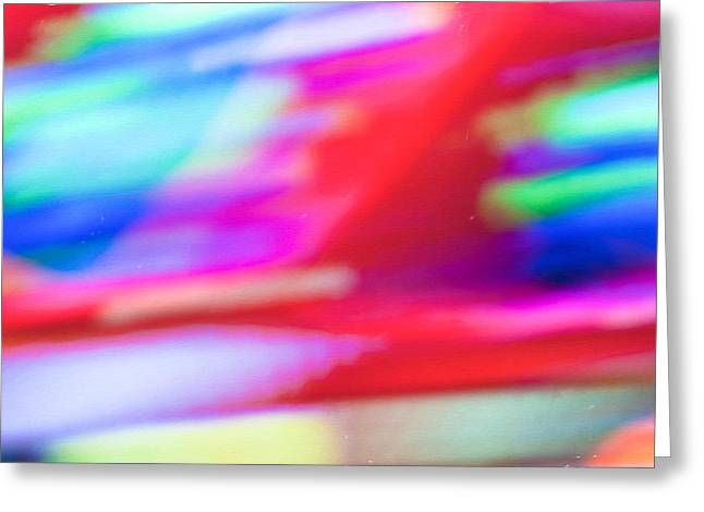 Abstract Oil Background Greeting Card by Tom Gowanlock