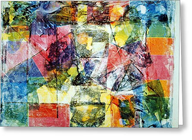 Abstract Painting Greeting Card by David Deak