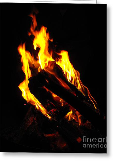 Abstract Phoenix Fire Greeting Card