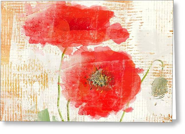 Abstract Poppy  Greeting Card by Irena Orlov